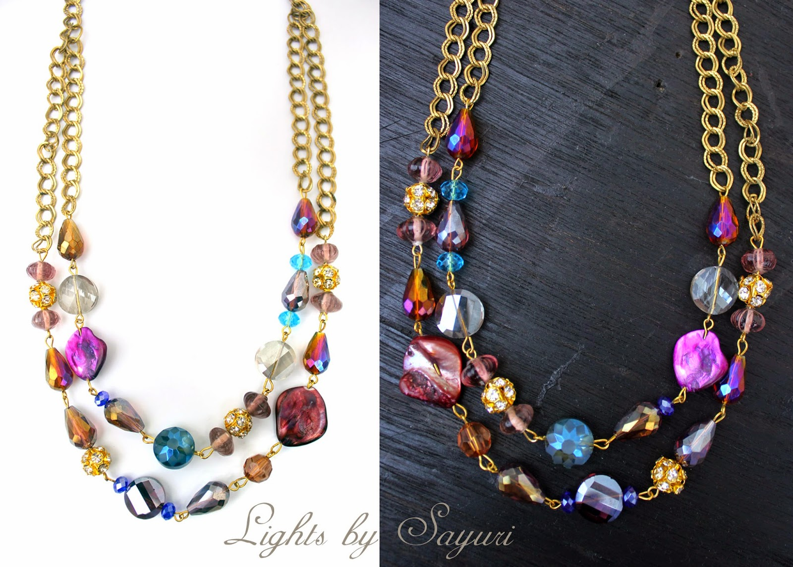 crystal necklace by Sayuri