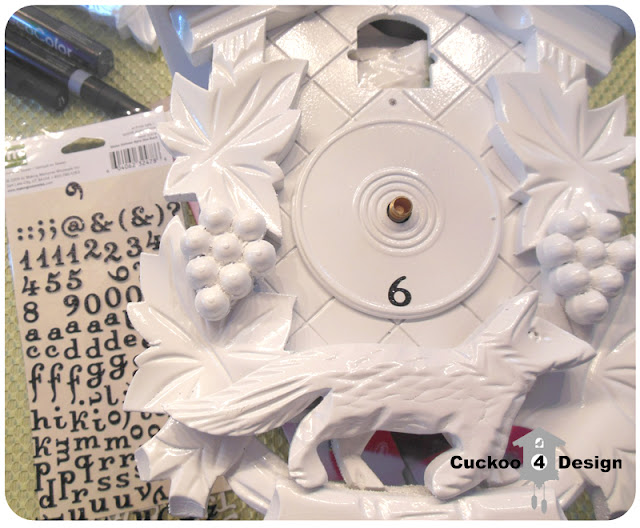 white cuckoo clock with new numbers