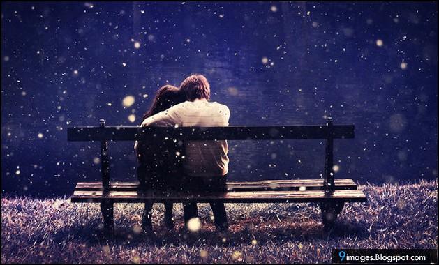 Couple hug sad bench beautiful - Beautiful sad couple images ...
