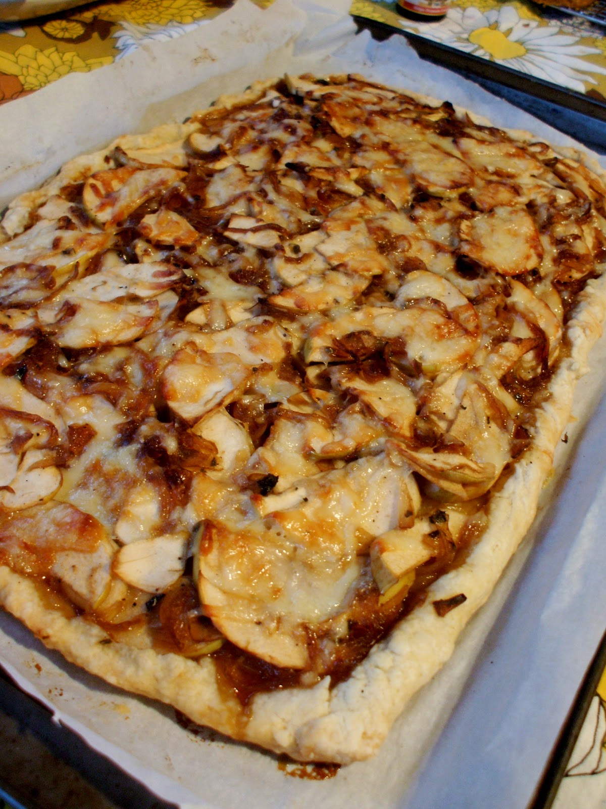 ... House: Savory Apple Tart with Caramelized Onions, Gruyere, and Sage