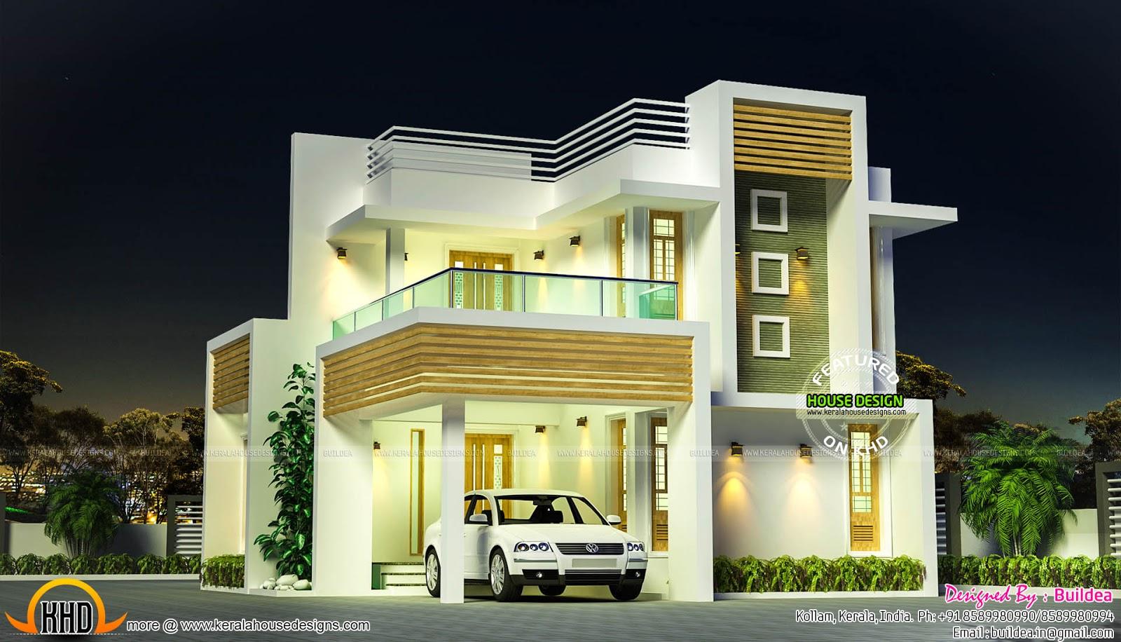 Elegant small contemporaryhome Kerala home design and