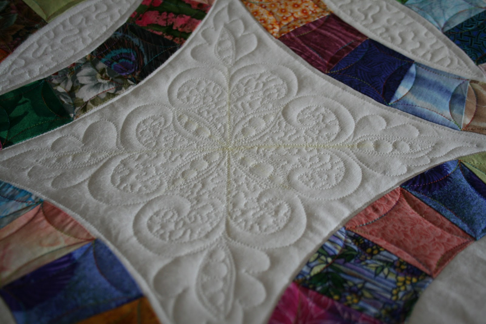 Cold Feet Quilter Double Wedding Ring Raffle Quilt