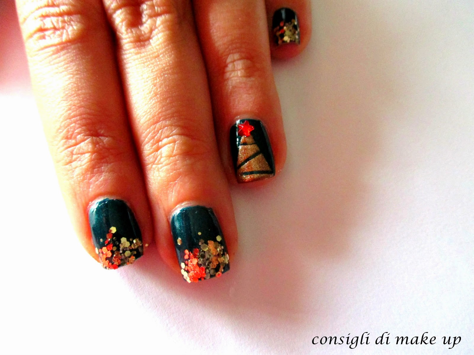 tutorial nail art natale facile