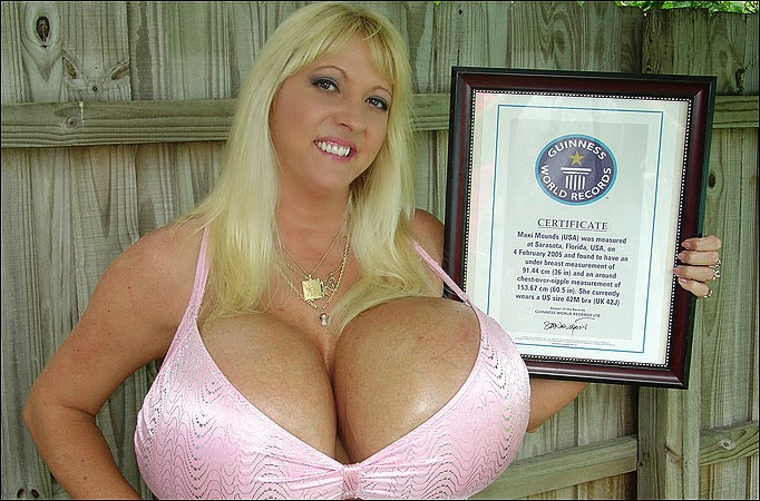 Damn that's boob world records what nice fat