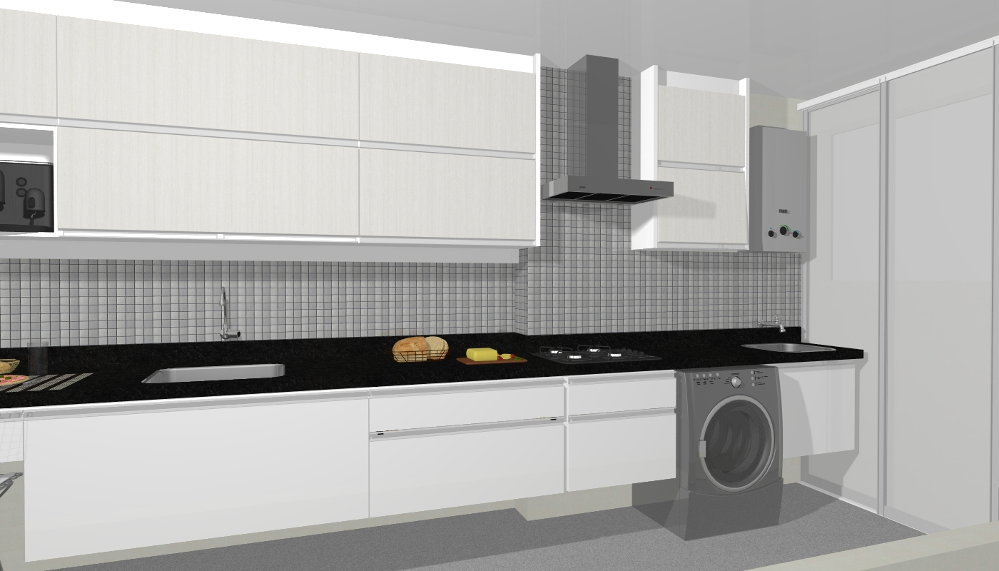 foi feita com a loja SCA de móveis planejados para a cozinha  #9B8E30 1400 800