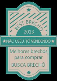 Prêmio BEST BRECHÓ 2013