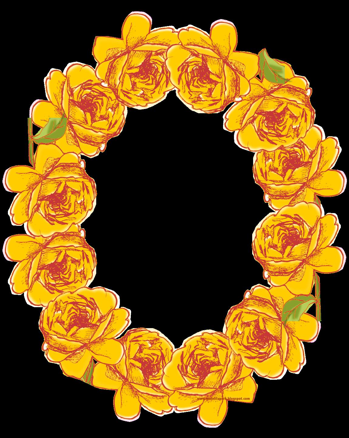 free digital oval flower frame in vintage style - ovaler ...