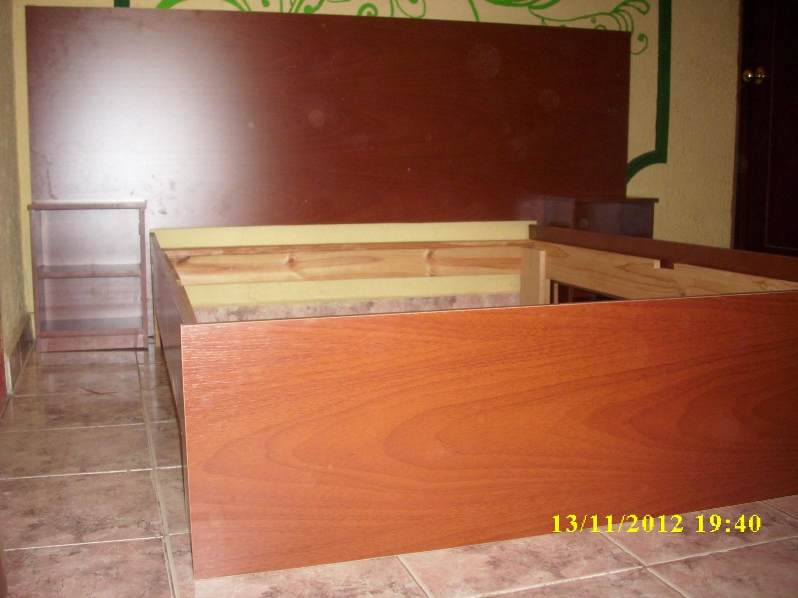 Mis trabajos en madera cama en melamina y pino for Trabajos de melamina