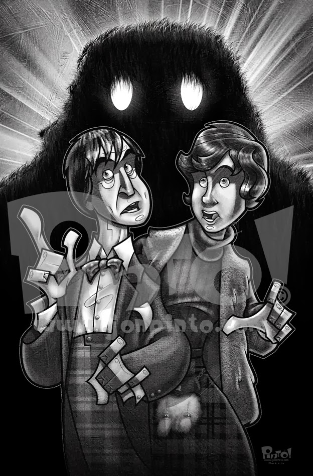 the second doctor jamie and a yeti