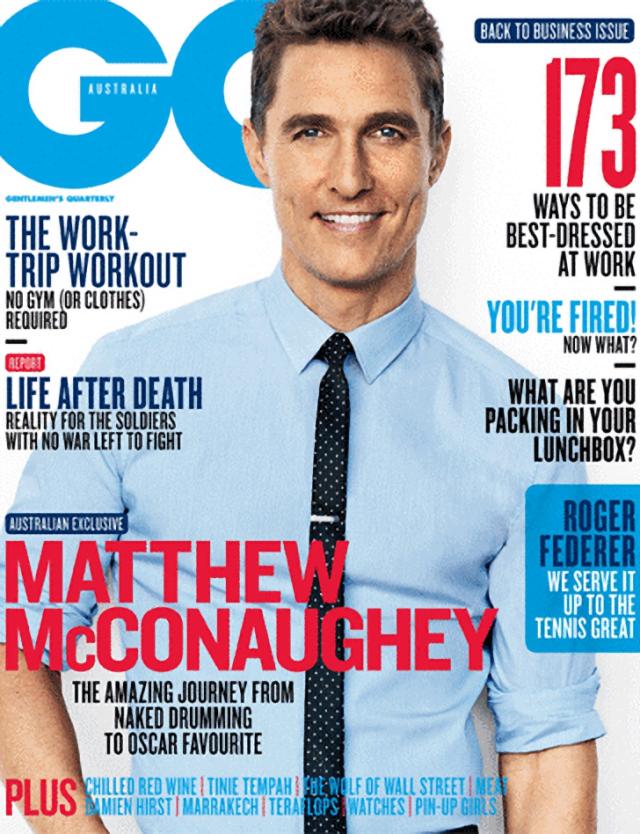 Matthew McConaughey es la nueva portada de GQ Magazine Australia febrero 2014