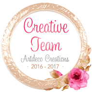 Artdeco Creations Creative Team Member 2016-2017
