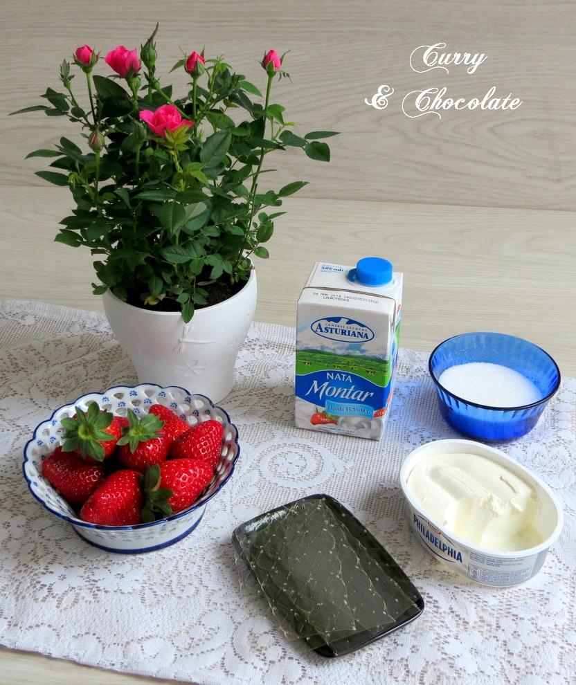 Mousse de fresas - Ingredientes