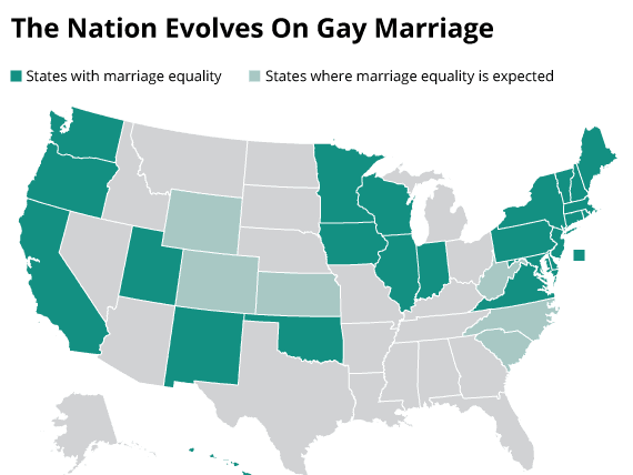 60 Percent Of Americans Soon Will Live In States With Marriage Equality