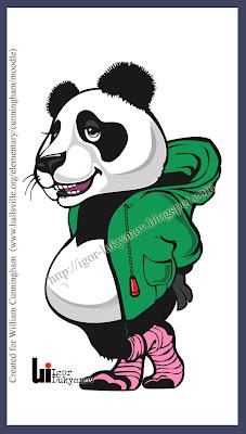 panda mascot by Igor Lukyanov
