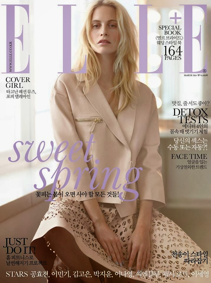 Poppy Delevingne Photos from Elle Korea Magazine Cover March 2014 HQ Scans