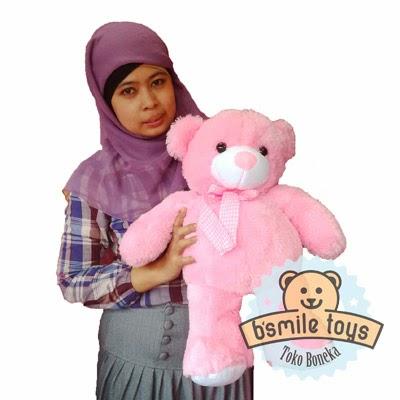 boneka bear lucu pink