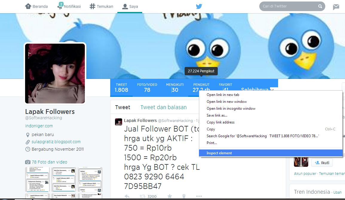 Cara menambah followers twitter hingga jutaan