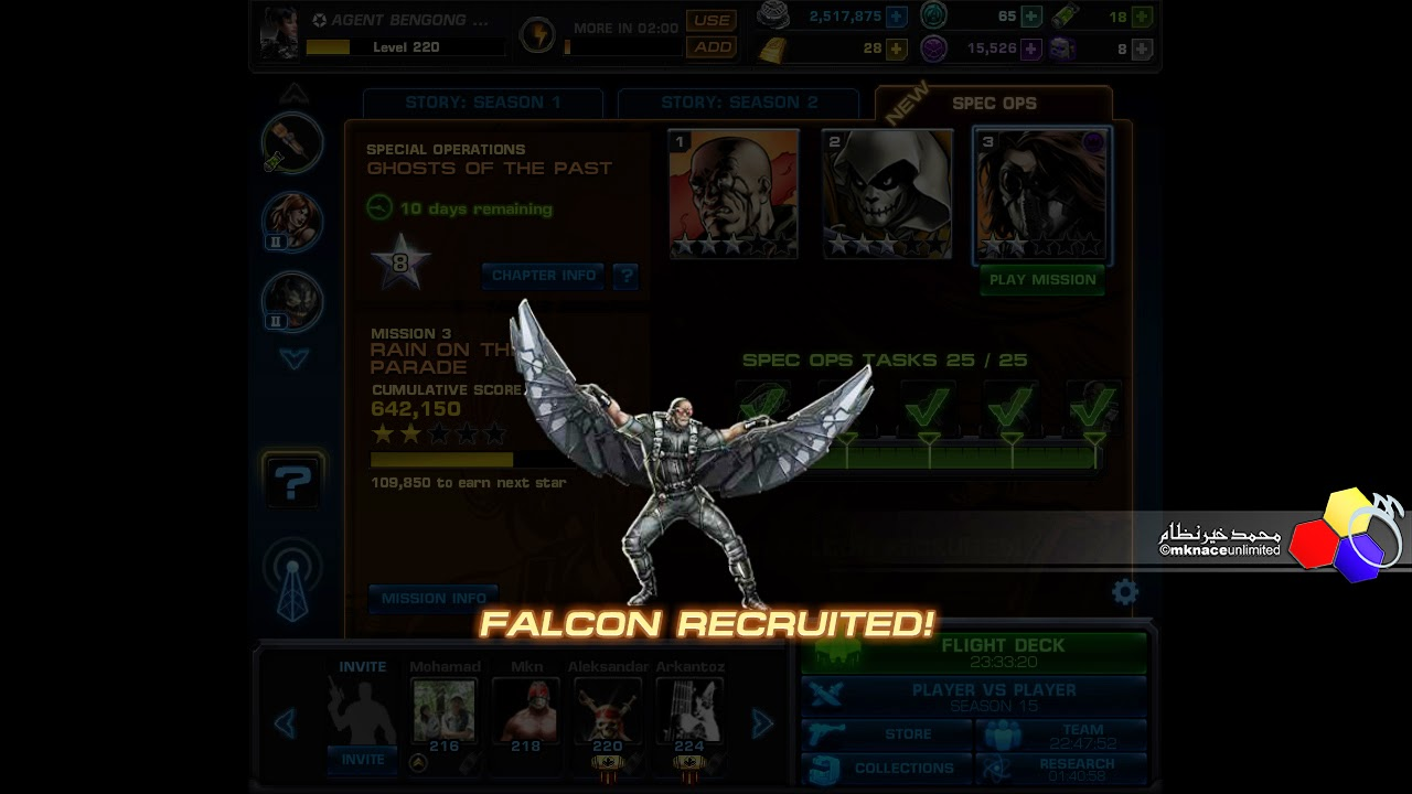 Marvel Avengers Alliance Spec Ops 17 Done