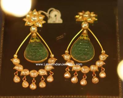 party wear gold earrings