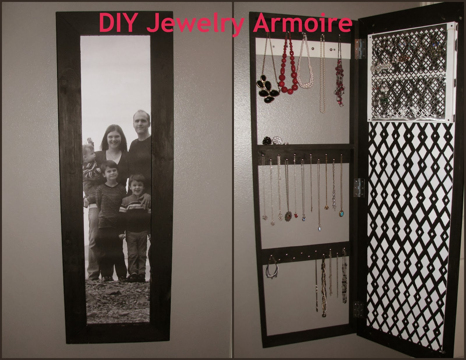 Superb DIY Jewelry Armoire