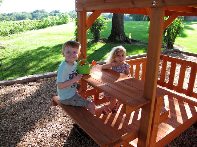 Enjoying the Picnic Table