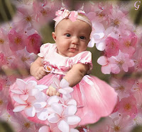 Cute Baby Images Pink Gown Babies Pictures
