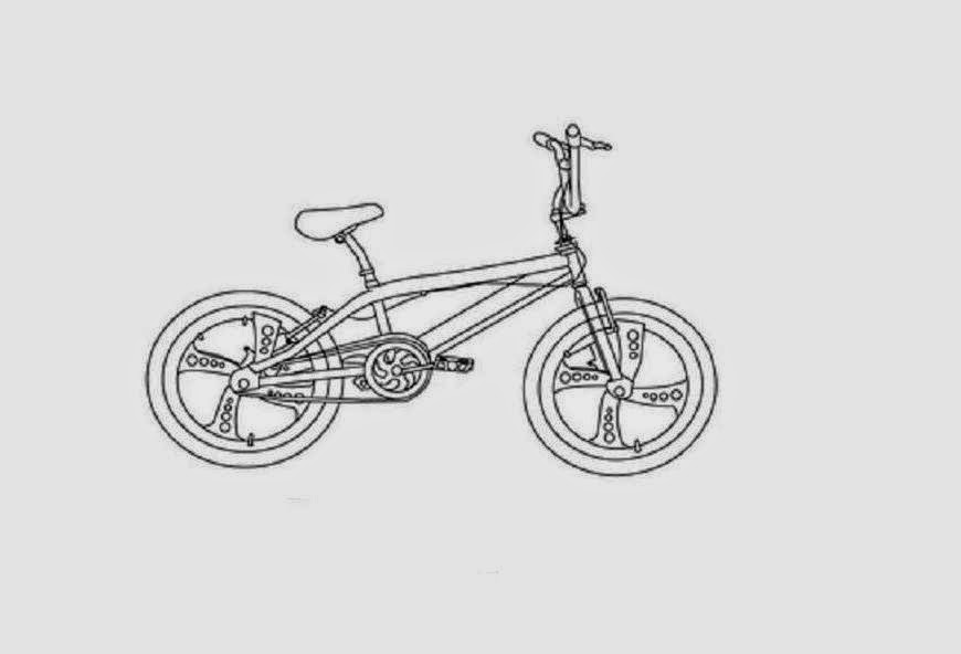 Bicycle Coloring Drawing Free wallpaper