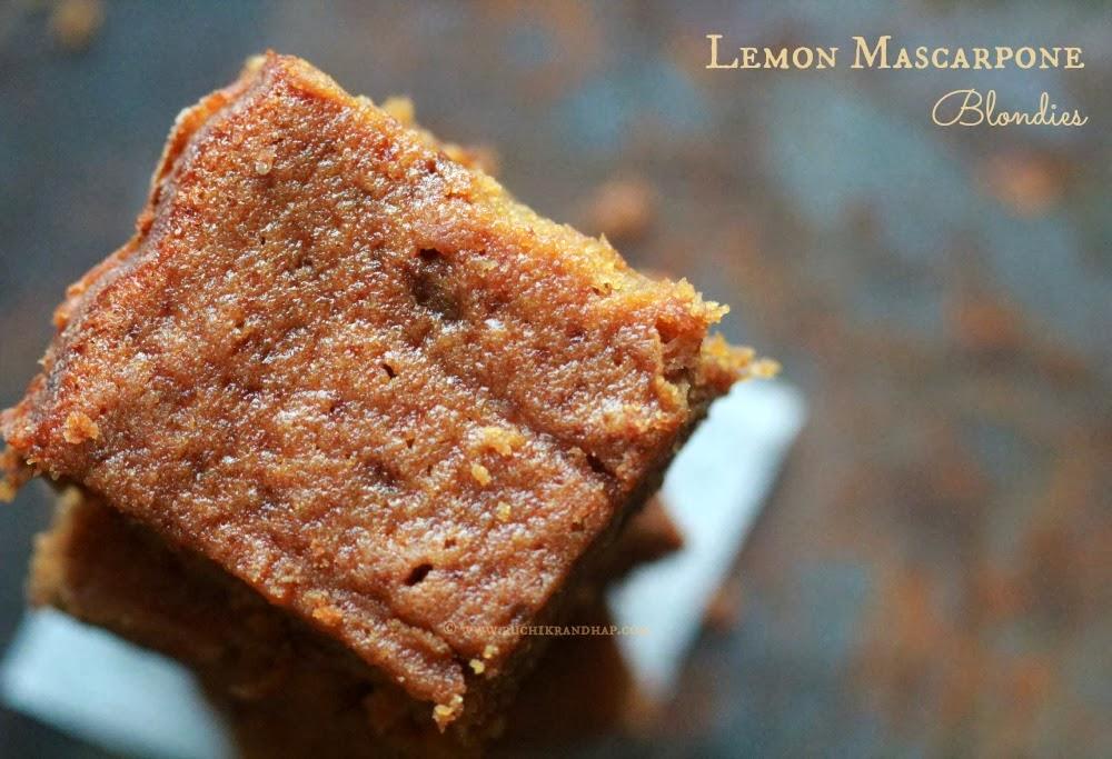 Ruchik Randhap (Delicious Cooking): Lemon Mascarpone Blondies