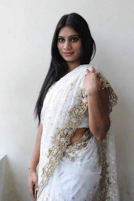 midhuna in saree hot photoshoot