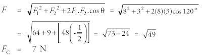 gaya elektrostatis total