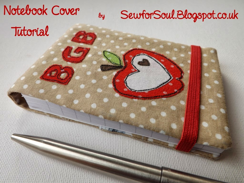 Tutorial Notebook Cover ~ Sewforsoul fabric journal cover tutorial
