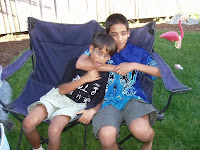 older brother strangling younger brother
