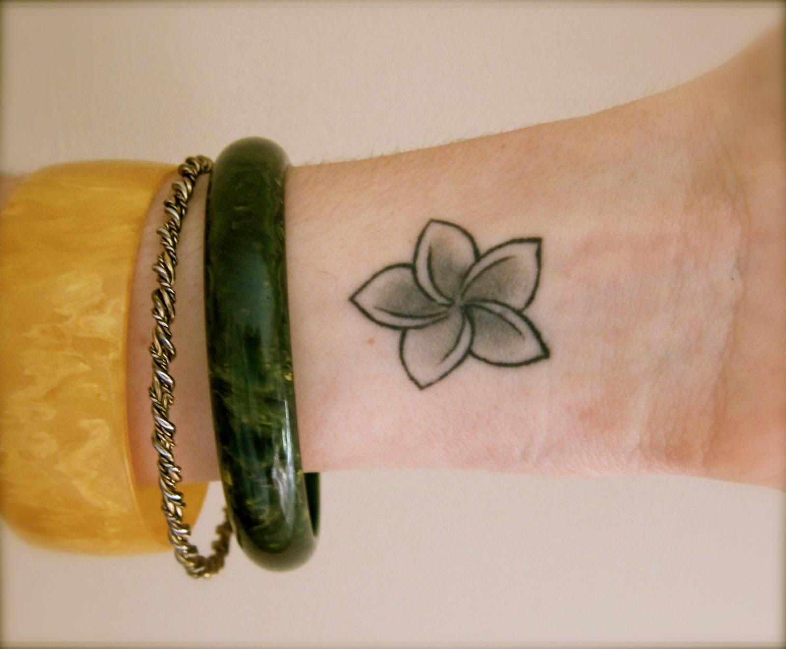 Hawaiian Plumeria Tattoos