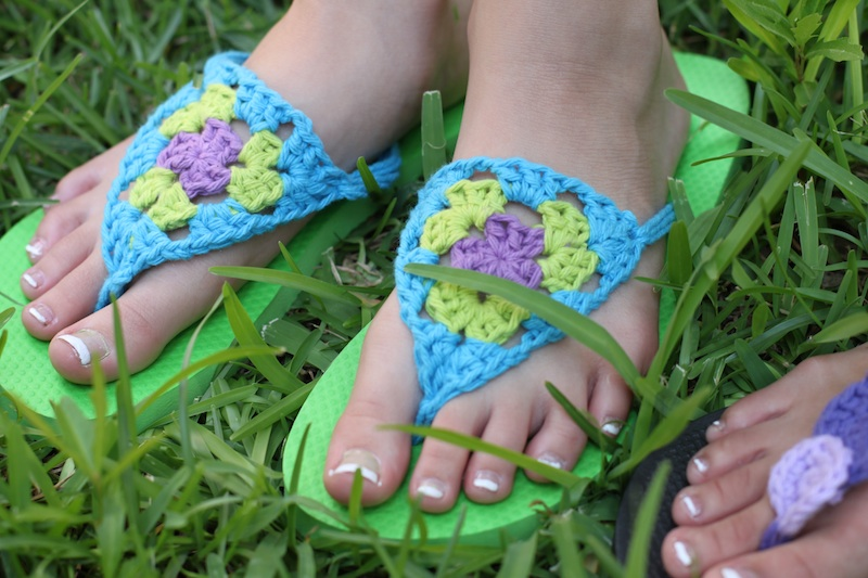 Crochet Flip Flops : flip flop diy after i saw scotti s crochet granny triangle flip flops ...