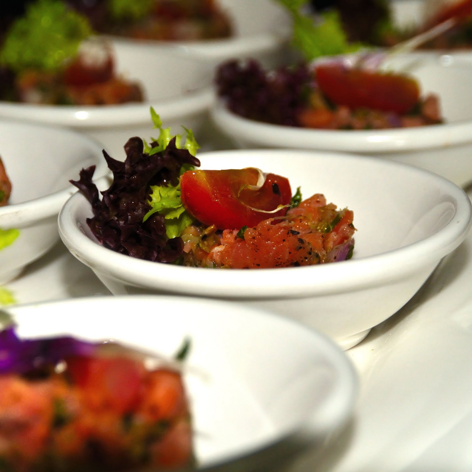 Art of culinary january 2012 for Smoked salmon roulade canape