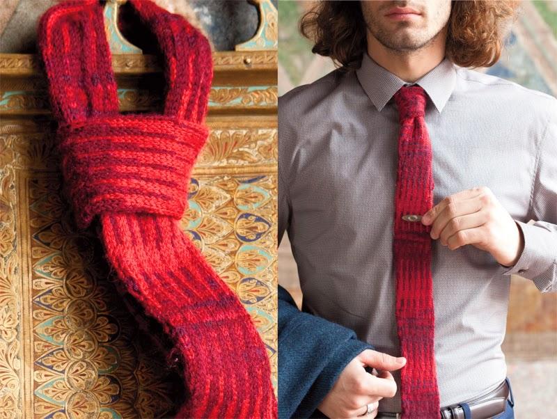Вязаный галстук своими руками 66