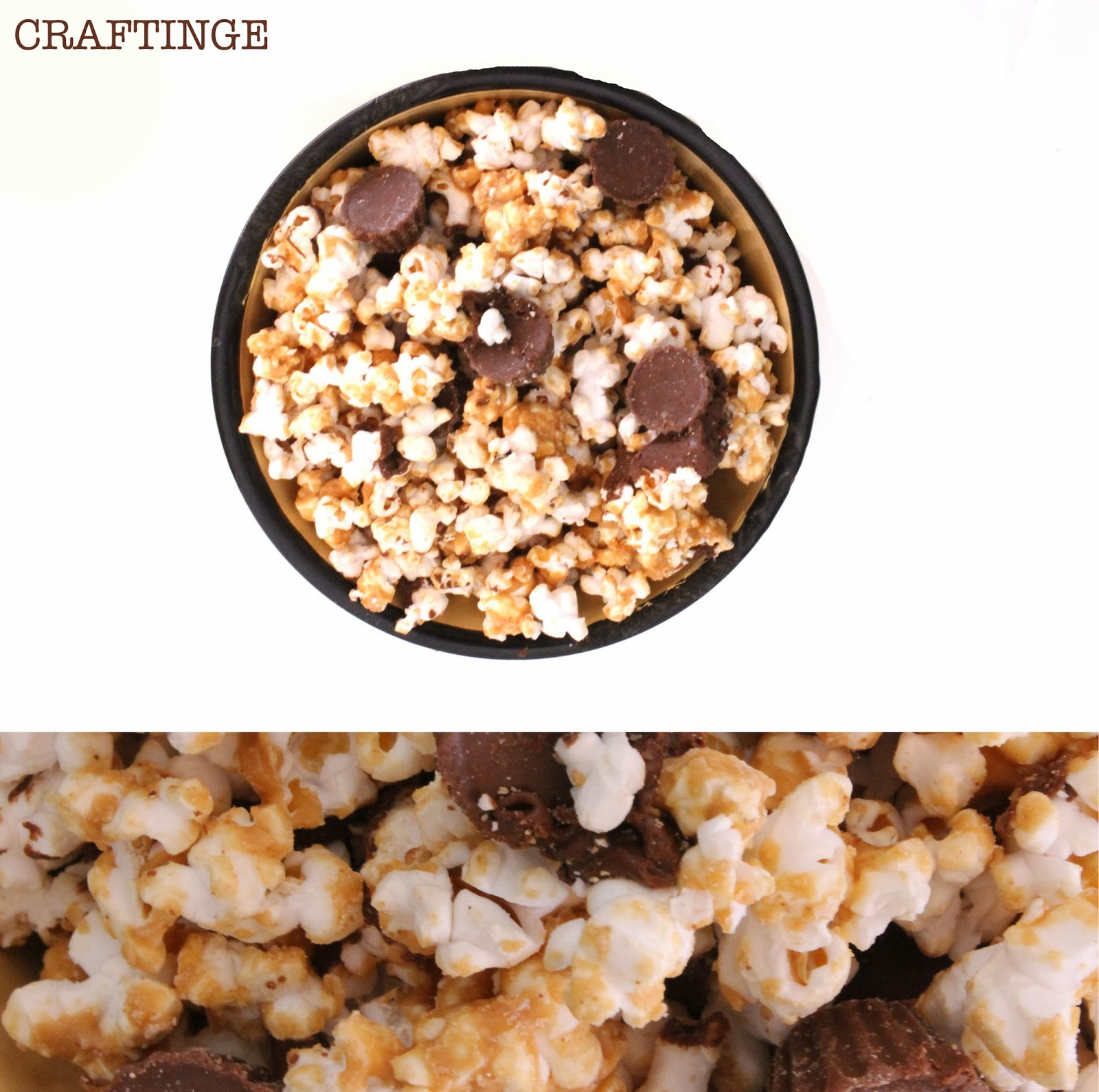 Reese's Peanut Butter Cup Popcorn - Craftinge{E}