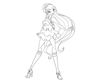 #5 Stella Coloring Page