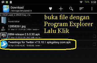 Membuka file Instaler APK android