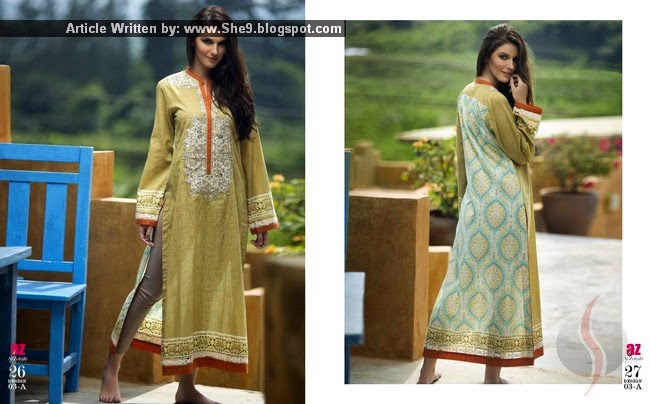 Embroidered Kurti Collection 2015 Volume 2