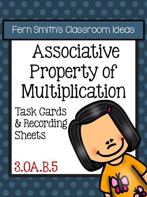 math worksheet : associative property of multiplication task cards  fern smith s  : Associative Property Of Multiplication Worksheets Free
