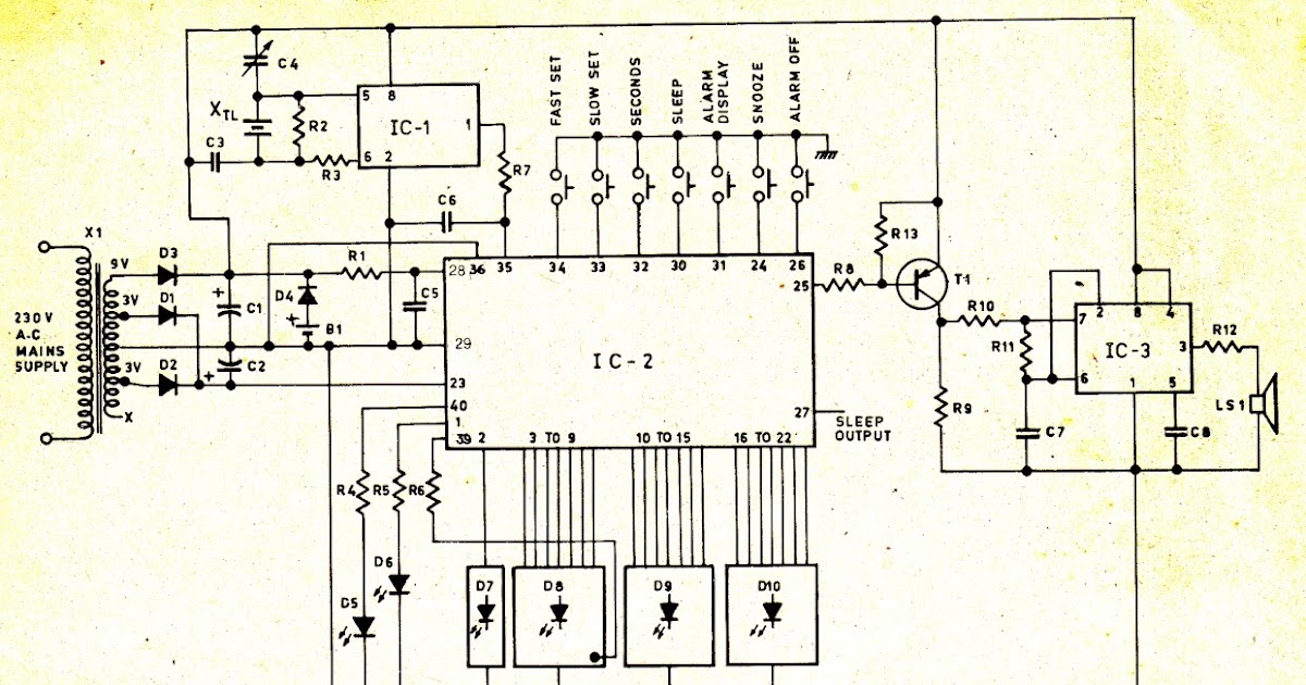 Circuit Wiring Solution  Digital Clock Circuit Diagram
