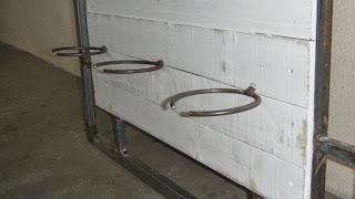 Argolas de aço aplicadas no painel