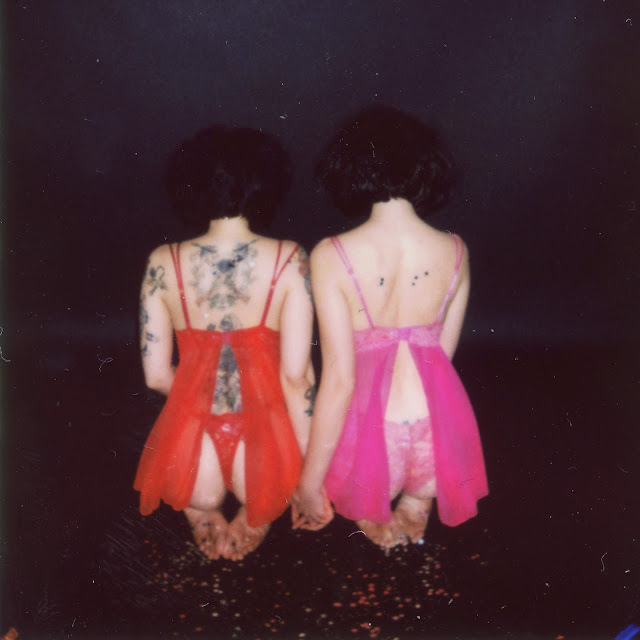 Crimson Mesh Babydoll, Crimson Lace String Thong & Crimson Lace Cheeky Panty - Red & Fuchsia