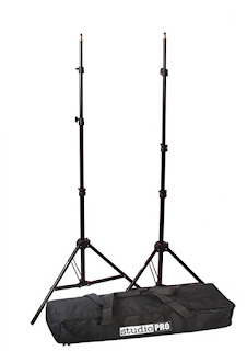"StudioPRO Set of Two 7'6"" Photography Light Stands with Carrying Bag"