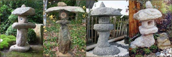 fotos linternas-lamparas-pagodas japonesas Yamadoro decoración jardines