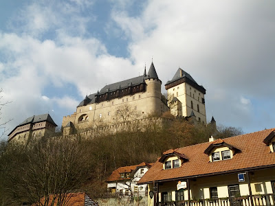Karlštejn Castle from Karlštejn village