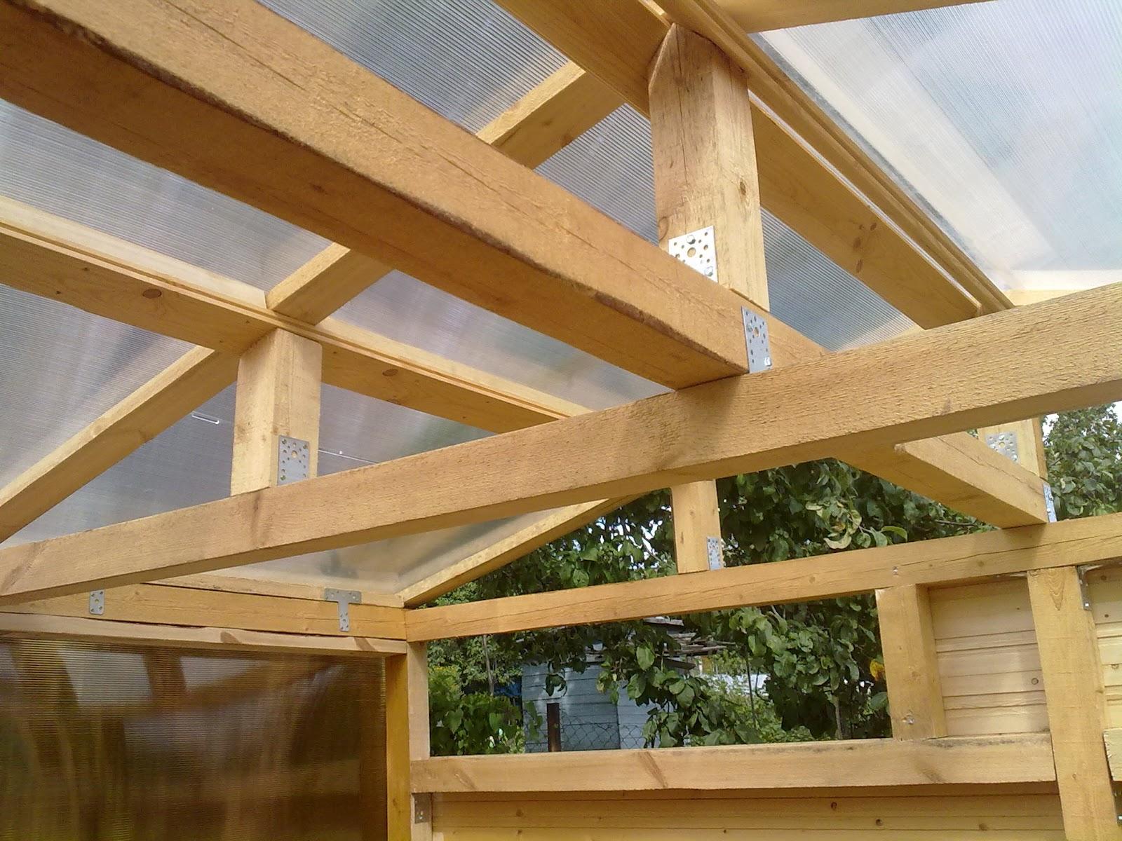 Как построить крышу веранды своими руками фото
