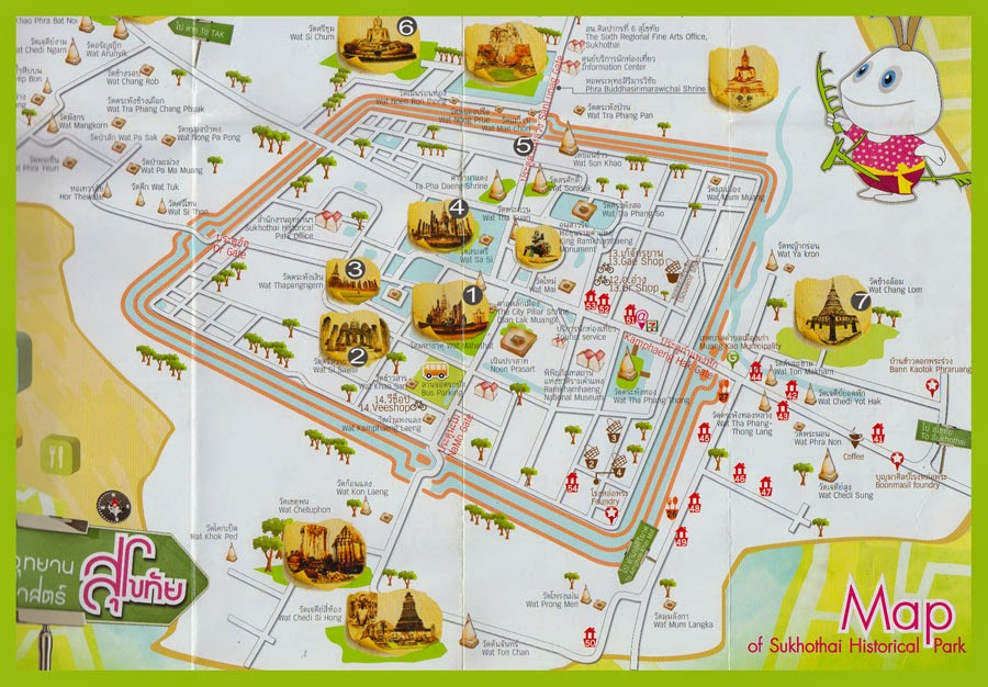 mapa Sukhothai