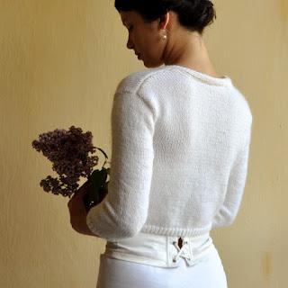sweterek ślubny - tył
